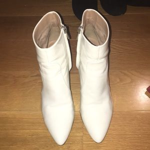 White patent booties